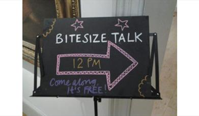 Bite Size Museum Talks sign