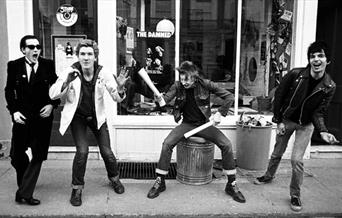 Photo of The Damned taken in 1977. Credit - Ian Dickson