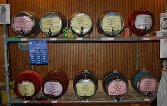 beer and cider barrels