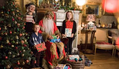 Photo of Father Christmas at Preston Manor