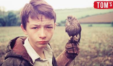 David Bradley as Billy Casper with 'Kes' the Kestrel