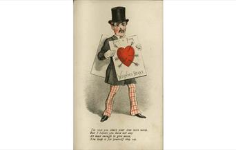 Valentine card from an album dating from the 1870's