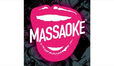 picture of pink lips with Massaoke written across them