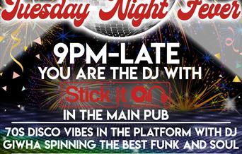Tuesday Night Fever New Years Eve Party at The Railway Inn