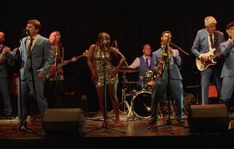 South Coast Soul Revue on stage