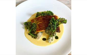 Trout and sake butter sauce