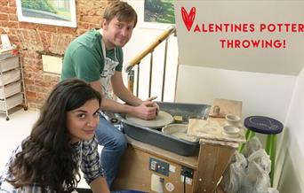Valentine's Pottery Throwing