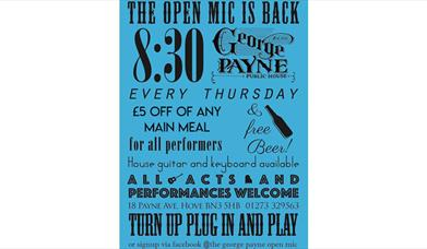 Open Mike Night @ The George Payne