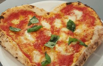 Heart Shaped Pizza from Nuposto